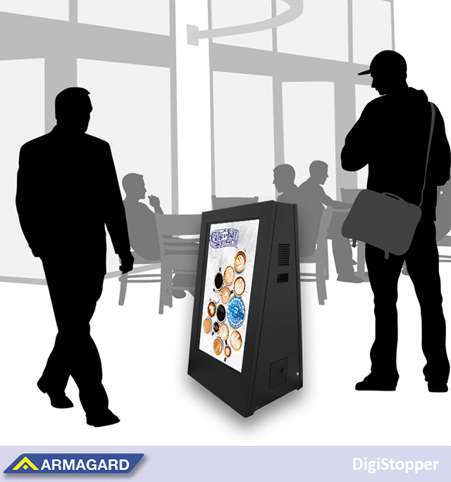 battery powered digital signage with security features