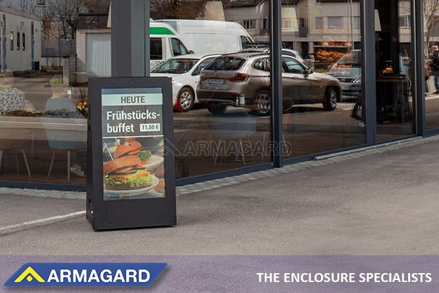 Armagard Portable Outdoor Digital Signage Is Right For Your Coffee Shop