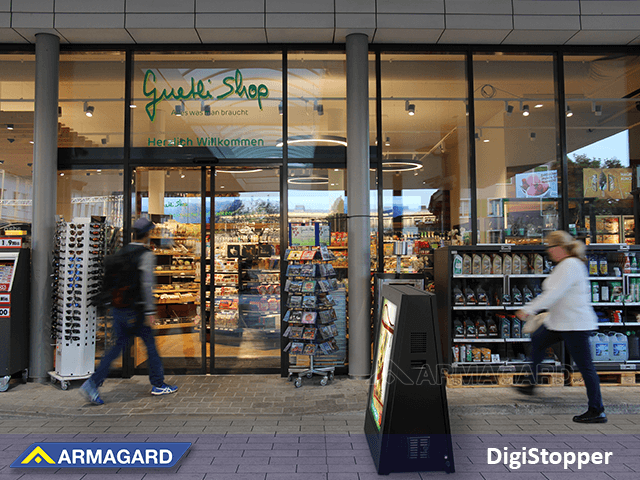 Dual-sided digital signage for twice the customer engagement