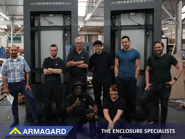 Some of the Armagard design and manufacturing team