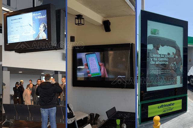 3 Creative Ways to Install LCD Digital Signage Enclosures