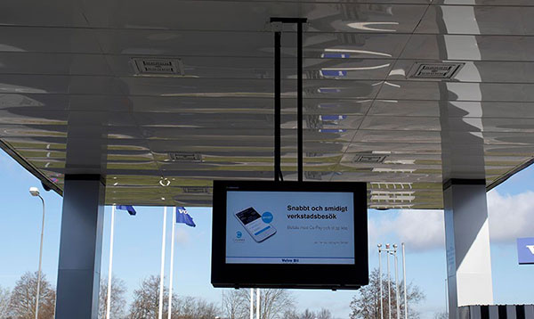 ceiling LCD digital signage enclosure