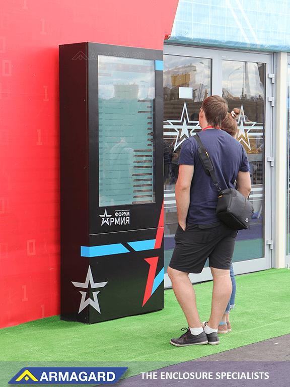 Digital signage at a storefront