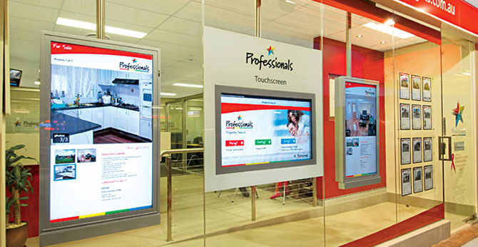 digital signage comparing old and new