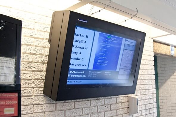 digital signage system south tynecastle college