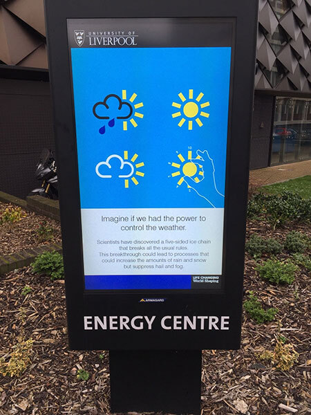 Outdoor Digital Signage Liverpool University