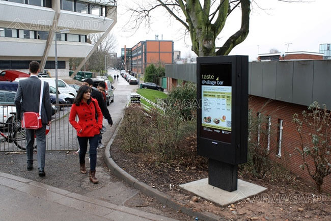 Outdoor Digital Signage Used at Loughborough University