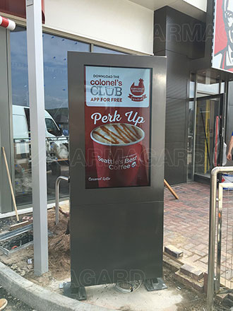 digital drive thru menu enclosure kfc