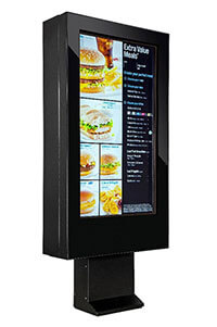 digital drive thru menu