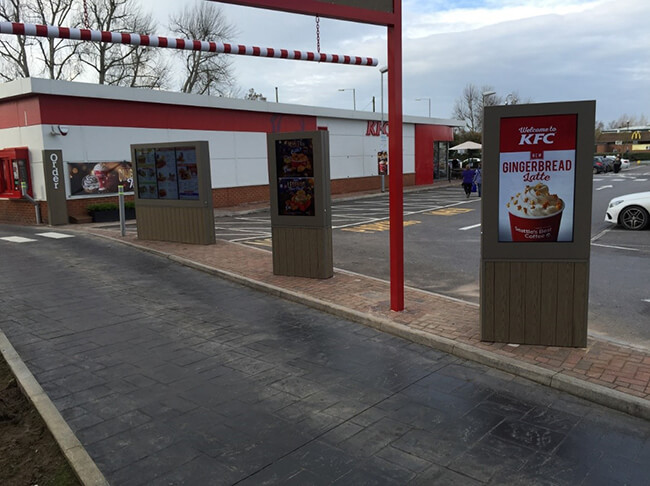 Digital Signage drive thru