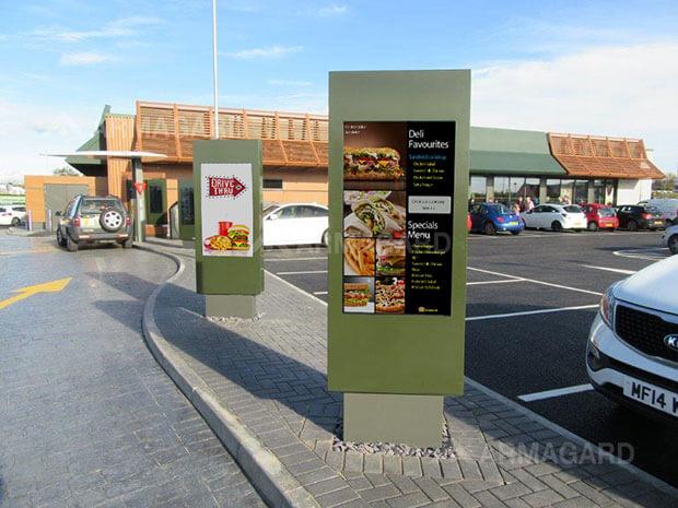 outdoor digital signage drive thru