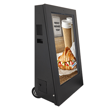 Battery-operated digital signage