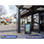 View the battery-powered digital signage in-situ outside a restaurant