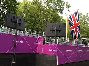 London 2012 Enclosure installed in the mall
