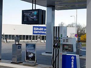 Volvo Bil petrol forecourt