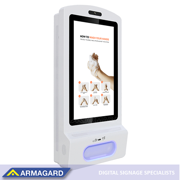 Motion-activated hand sanitiser by Armagard