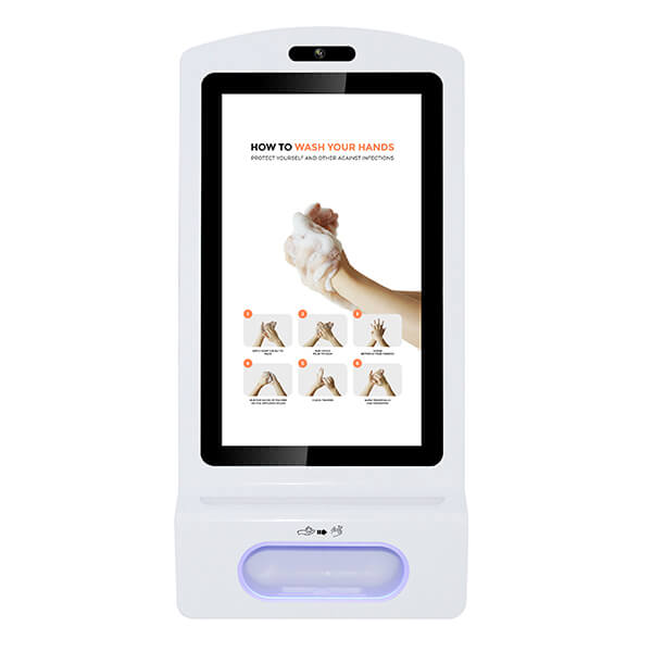 Front view of the Hand Sanitiser Digital Display