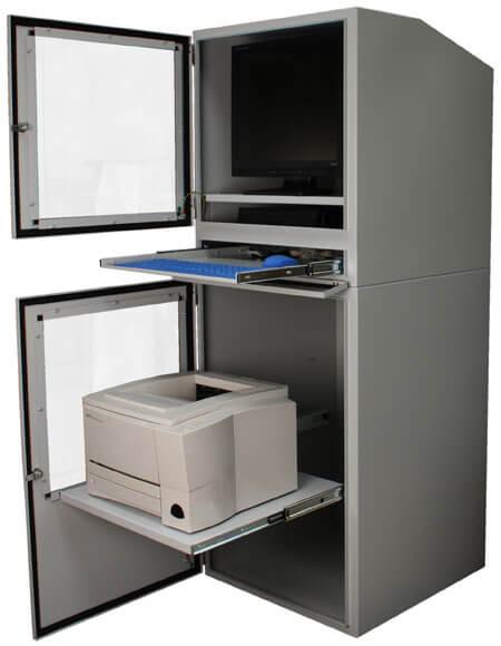 Industrial Computer Cabinet With Both Doors Open ...