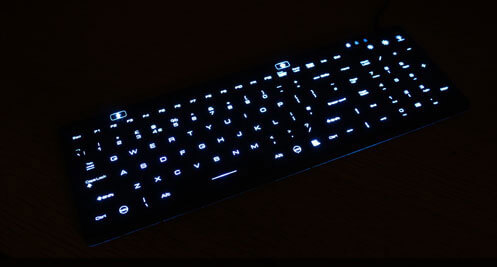 Illuminated Keyboard Waterproof Keyboard With Backlit