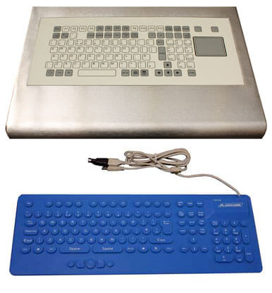 stainless intergrated keyboard and standalone silcone keyboard