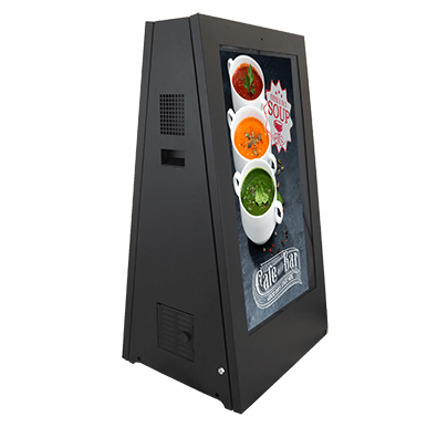 Outdoor battery-powered digital signs