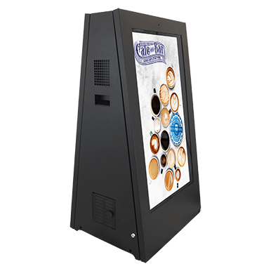 Dual-sided outdoor digital A-Frame signage