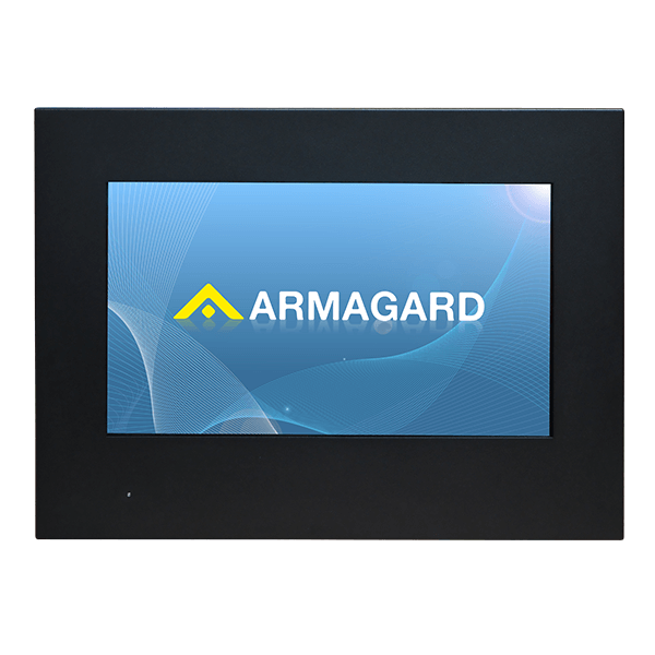 Slimline, Wall-Mounted Outdoor Digital Display Cabinet front view