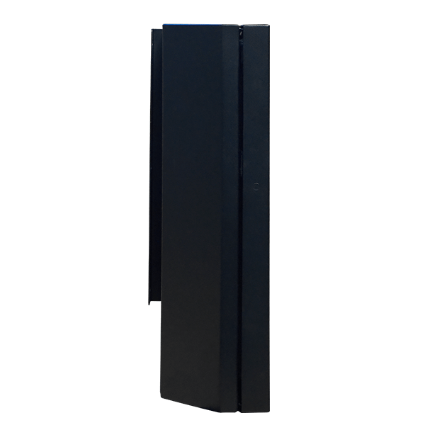 Slimline, Wall-Mounted Outdoor Digital Display Cabinet side view