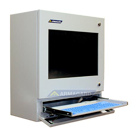 touch screen industrial pc protective computer enclosure with integrated widescreen touch. Black Bedroom Furniture Sets. Home Design Ideas