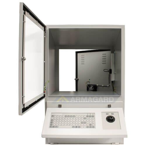 Computer Enclosure | IP54 computer, keyboard & monitor protection