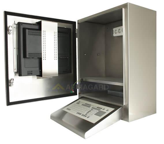 Waterproof Computer Enclosure IP65 Watertight And Monitor Protection Armagard Ltd