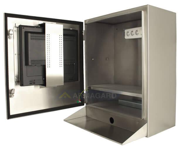 SENC-700 Waterproof Computer Enclosure - side view open