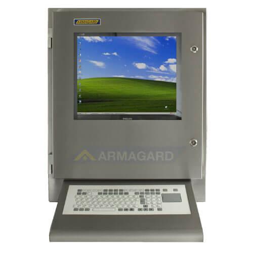 SENC-700 Waterproof Computer Enclosure with wedge keyboard