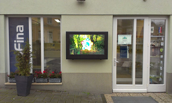 LCD enclosures used outdoors