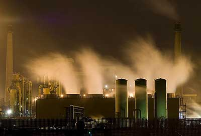 Redcar Steelworks at Night