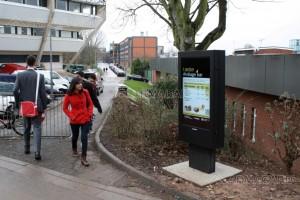 Digital signage in education - University totem