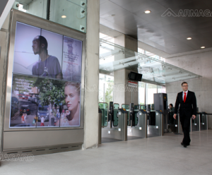 Cable cart outdoor digital signage