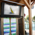 LCD enclosure used at a surfing-school