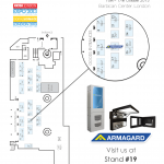 A diagram of how to find armagard at stand 19 of the Digital Signage London Expo