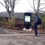 Outdoor digital signage totem