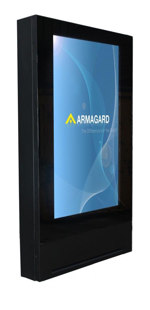 "Armagard's all new 72"" inch LCD digital signage enclosure."