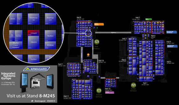 Find Armagard at stand 8-M245, ISE 2014.