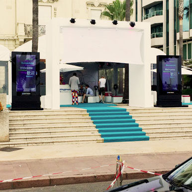 Outdoor digital signage totem