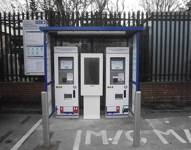Car park digital signage can be used as part of a pay station