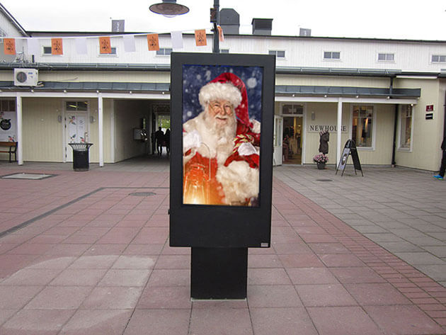 Digital signage christmas