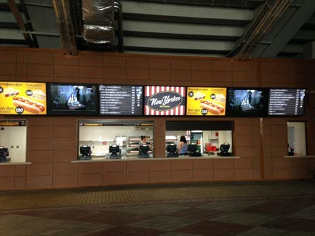 Indoor digital menu boards