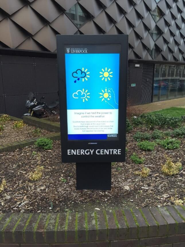 Armagard's outdoor digital signage environmental enclosure for the University of Liverpool