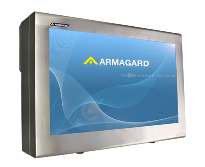 "Armagard's, 55"" stainless steel digital signage enclosure"