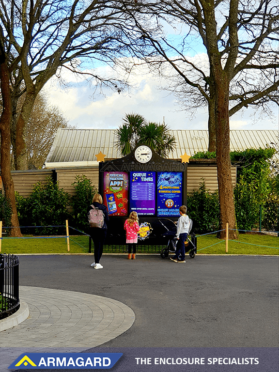 Theme park digital signage