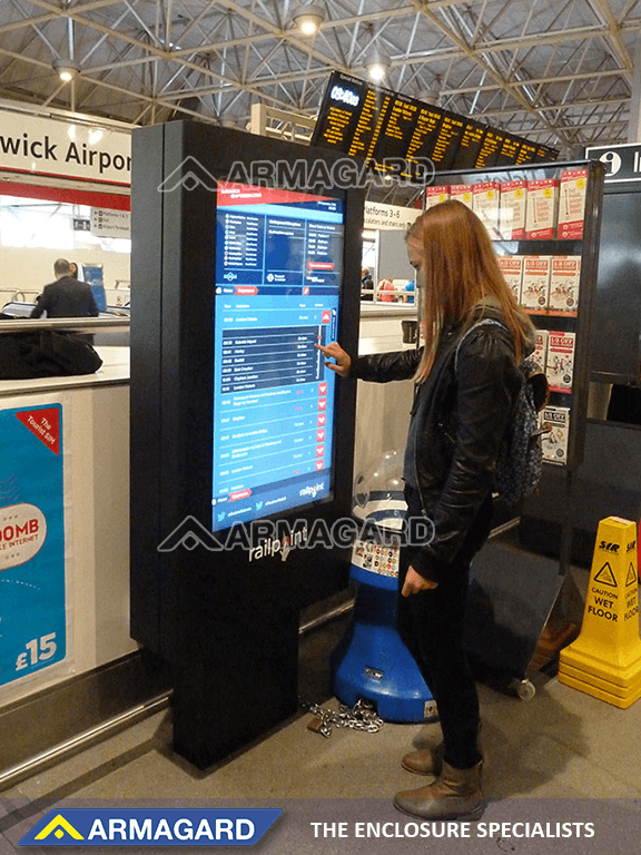 Touch screen digital signage technology in action at Gatwick